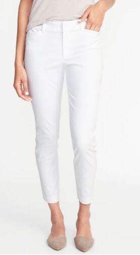 Old Navy Donna Mid-rise Pixie pantaloni chino taglia 6R-BIANCO-Nuovo con etichette
