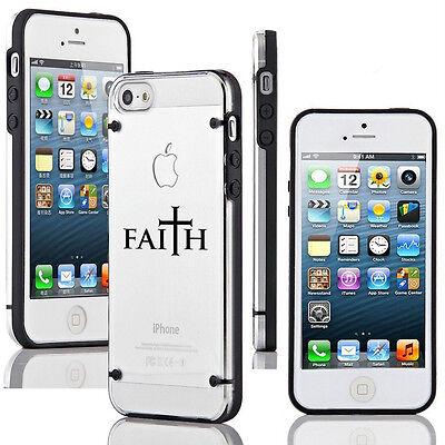 For Apple iPhone 6 6s Plus Transparent Clear Hard TPU Case Cover Faith Cross