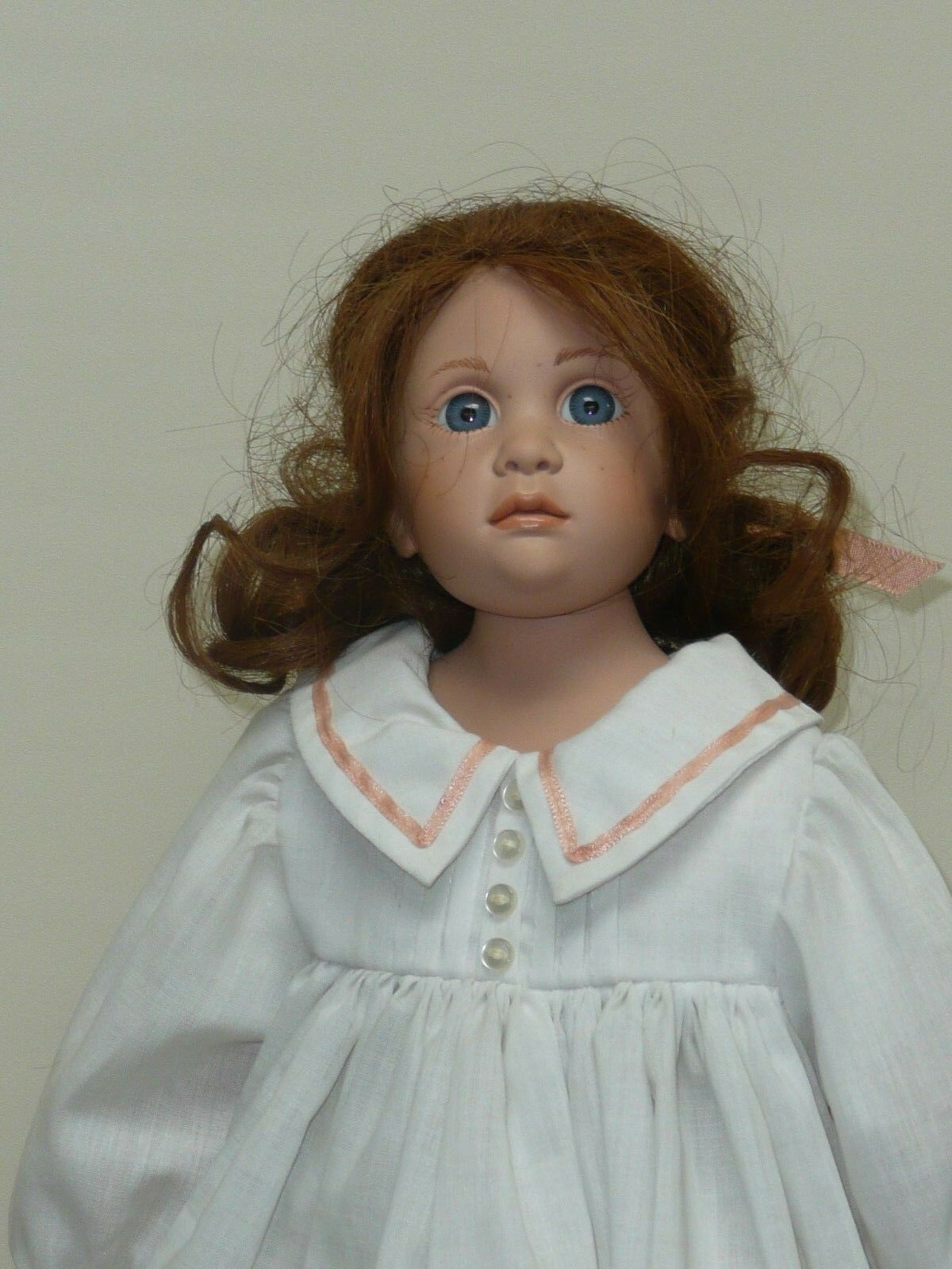 16  Hildegard Günzel Alexander Doll quema de pelo rojo con ojos azul profundo mar