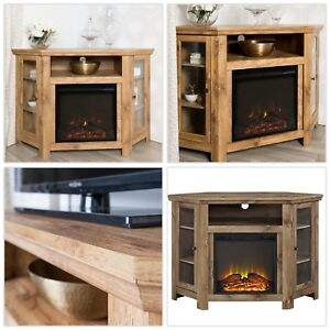Corner Electric Fireplace Tv Stand Entertainment Center 48 In
