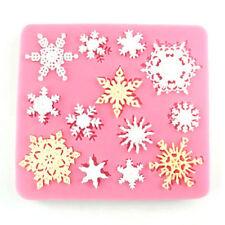 XMAS Snowflake Silicone Fondant Cake Mold Chocolate Decoration FE