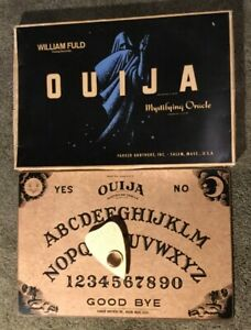 Details about Vintage Ouija Board , William Fuld Talking Board Set , Parker  Brothers version
