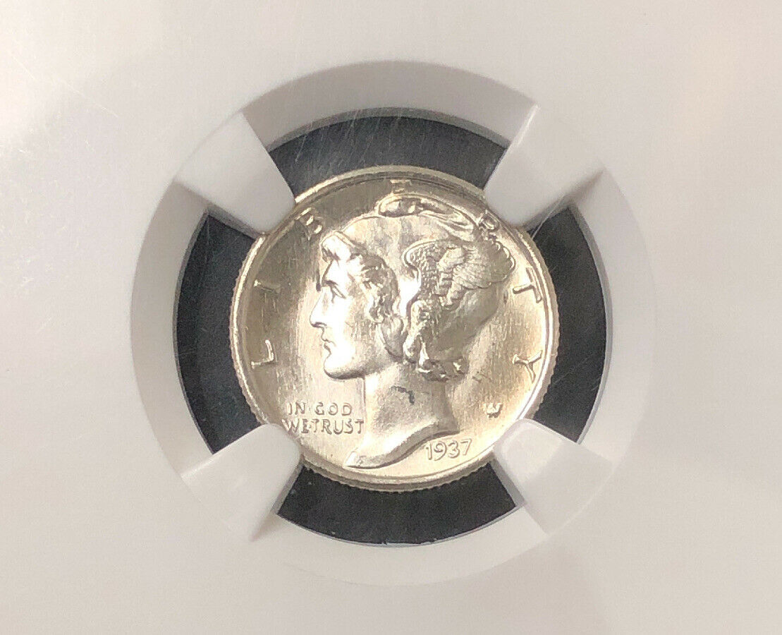 1937 S 10C Mercury Dime MS66 NGC NH004