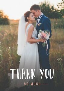 Wedding Thank You Thank You Cards Civil Partnership Thank You Personalised