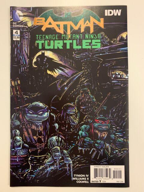IDW/DC : BATMAN/TEENAGE MUTANT NINJA TURTLES #4 OF 6 EASTMAN CVR : NM CONDITION