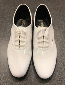 d2c9fe6648 MEN S WHITE TUXEDO DRESS SHOES faux patent leather classic formal ...