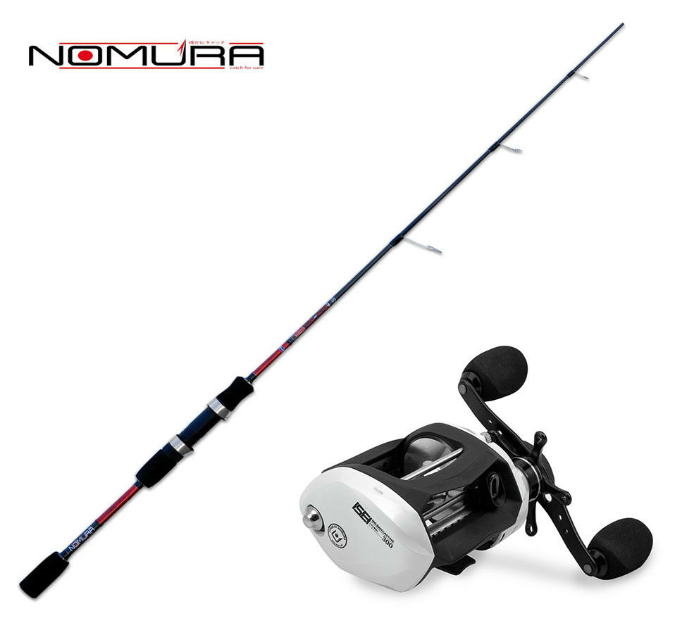 KP3046 Kit Spinning Canna Nomura Hiro Slow Pitch 180 Cm + Mulinello Nomura  PP