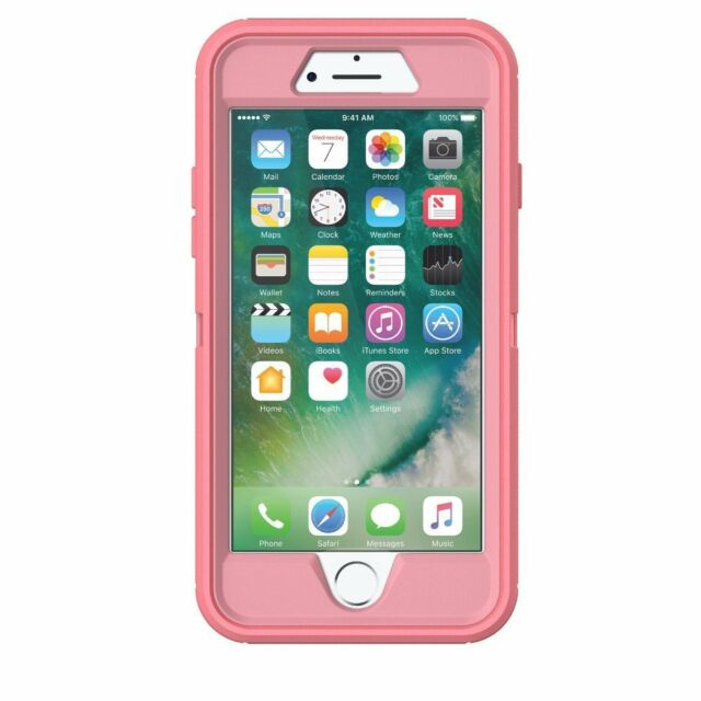 new product d419e 4c4bd OtterBox Defender Case for Apple iPhone 7 and iPhone 8 - Rosmarine/Pipeline  Pink