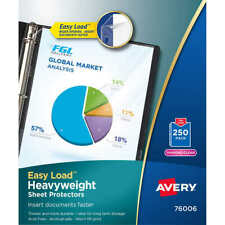 Avery Premium Heavyweight Sheet Protectors Clear 250 Count