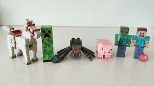 Minecraft-Set-of-6-Horse-Pig-Steve-Zombie-Creeper-Figures-New-No-Tag