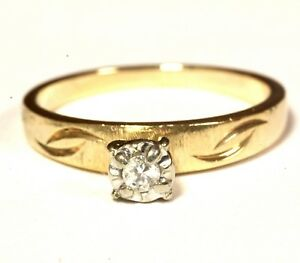14k-yellow-gold-05ct-SI1-H-round-diamond-solitaire-engagement-ring-2g-vintage