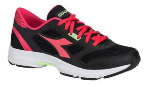 Dettagli su Diadora Scarpa Running Sneaker Jogging Donna Shape 7 Black bright rose Scarpe