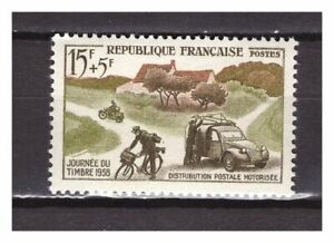 s24587-FRANCE-1958-MNH-Nuovi-Stamp-Day-1v-Citroen-2CV