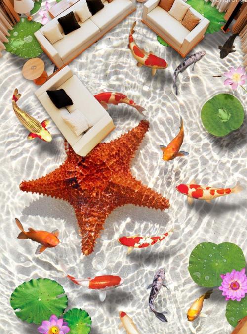 3D Starfish 60 Fototapeten Wandbild Fototapete Tapete Familie DE Lemon
