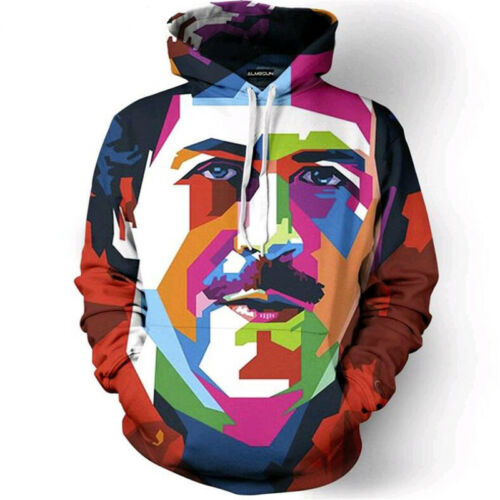 Womens//Mens Pablo Escobar Colorful Funny 3D Print Casual Hoodie Sweatshirt Tops