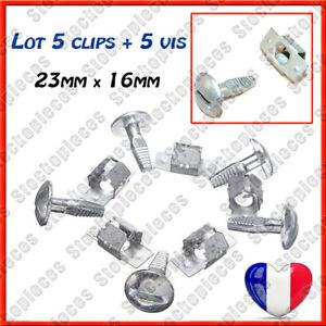 5-Clips-5-Vis-de-Fixation-Protection-Cache-Plaque-sous-Moteur-Peugeot-306-307