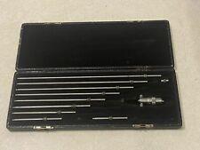 Vintage Ls Starrett Co Inside Micrometer Gauge Set