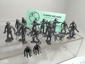 Marx-Daktari-Playset-African-Hunters-Recast-Jungle-Jim-Kulu-Silver-Plastic