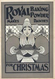 Royal Baking Powder makes dainties for Christmas ad 1895 Maxfield Parrish