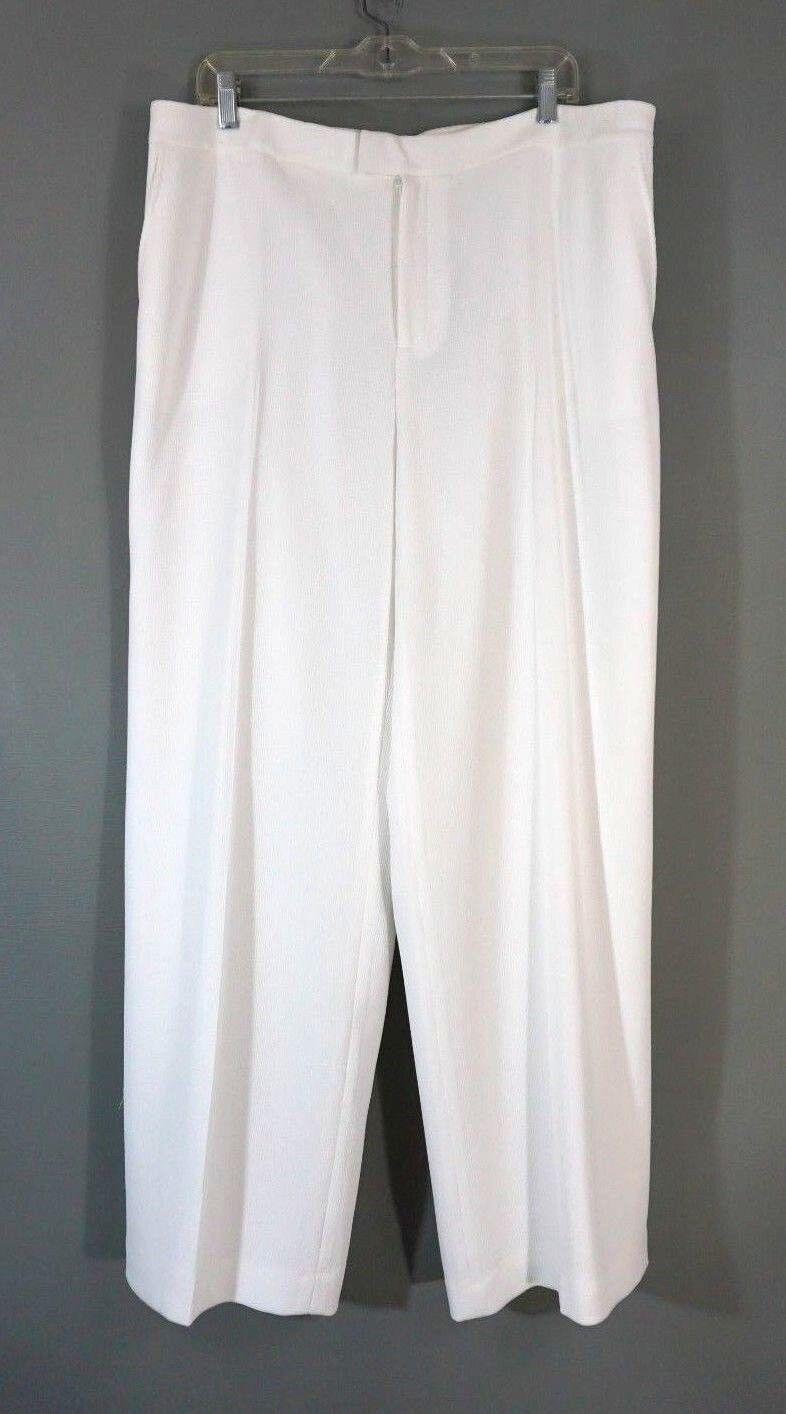 Linda Allard Ellen Tracy Dress Pants 18 Weiß Texturot Straight Leg NWT  1031