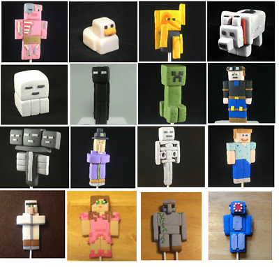 Minecraft Party Themed Made To Order Cake Decoration Topper 3d