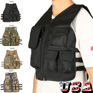 Tactical-Military-Vest-CS-Game-Airsoft-Combat-Assault-Plate-Carrier-Kids-gift