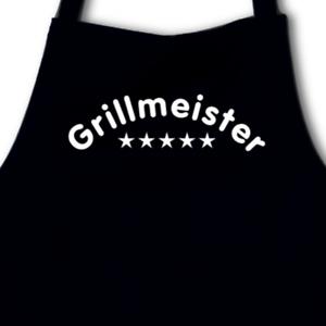Samunshi Grillschürze /'Grillmeister/'  8 Farben 75x100cm