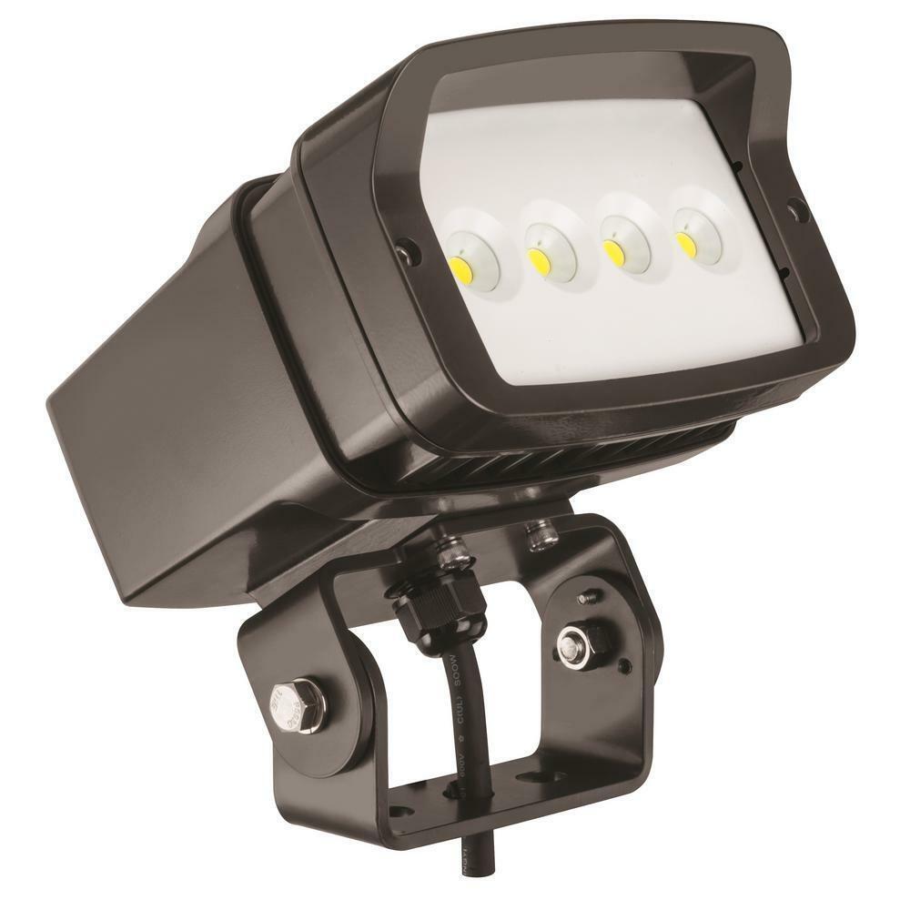 Bronce al aire libre paisaje 5000K LED integrado luz de inundación