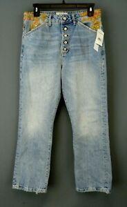 People boutonn Jeans Braguette Free Embellished Fd04wwq