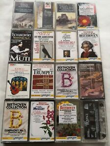 16 x Classical Music Cassette Tapes Free shipping UK Joblot bundle