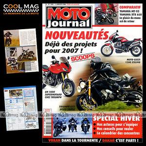 MOTO-JOURNAL-N-1694-YAMAHA-MT03-XTX-660-GUZZI-1200-STELVIO-TRIUMPH-675-1050-2006