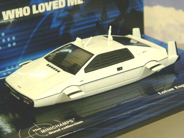 Minichamps 1/43 James Bond 007 Lotus Spirit S1 Submarino The Spy Who Loved Me