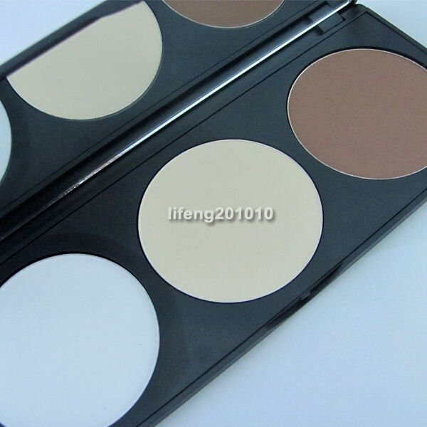 Professional 3 color Makeup Cosmetic Contour Face Powder Palette With Mirror