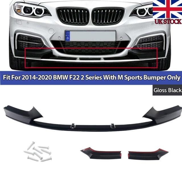 M SPORT-Performance Front Spoiler Splitter Black Gloss for BMW F22 F23 M BUMPER