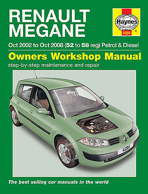 02-05 Haynes Workshop Manual for Renault Megane Petrol /& Diesel
