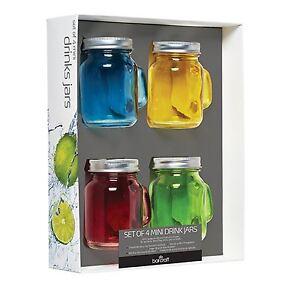 Kitchen Craft home made cocktail coloré verre boissons jar avec paille