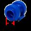 AWM trampoline 8x extrémités Bleu Réseau Tiges 25 mm Bouchons Capuchons de clôture intérieur