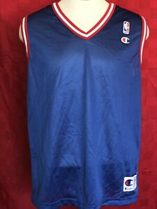 95b33c893 Rare set of 7 Detroit Pistons BLANK Throwback Champion basketball ...
