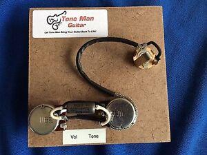 s l300 tone man premium wiring harness fits single humbucker 2 control toneman wiring harness at bayanpartner.co