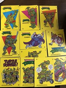 1989-Topps-Teenage-Muntant-Ninja-Turtles-Collectible-Stickers-U-Pick-3-Cards