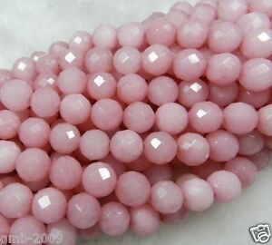 Perfect-6mm-Faceted-Pink-Jade-Round-Gemstone-Loose-Beads-15-034