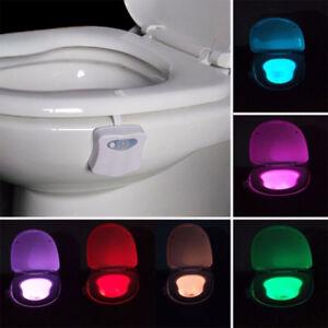 8 colors automatic seats human motion sensor toilet led light image is loading 8 colors automatic seats human motion sensor toilet mozeypictures Choice Image