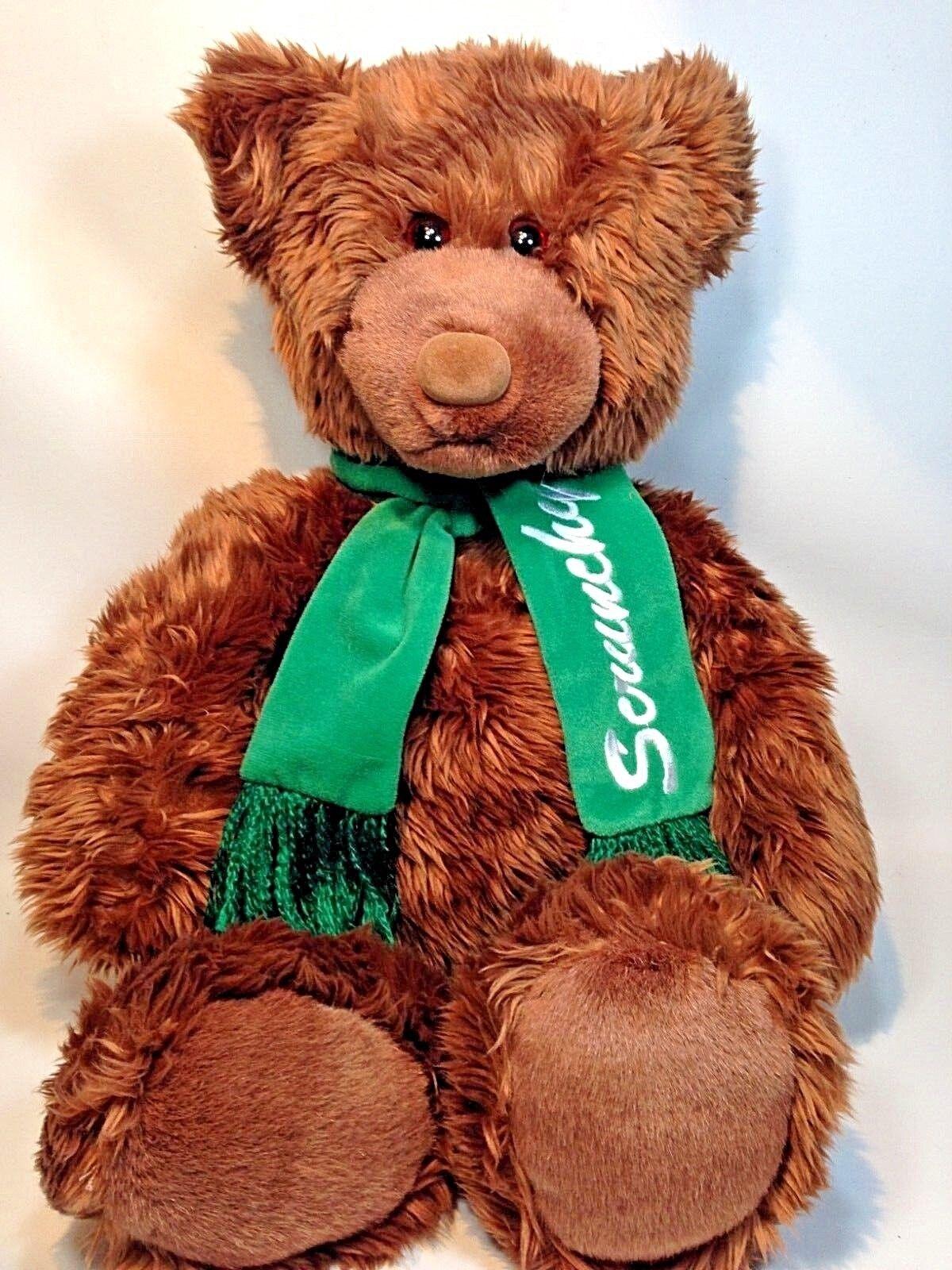 Gund Scspringaaky Bear Heads and Tails Teddy Plush bspringaa Grizzly Animal grön Sbilf