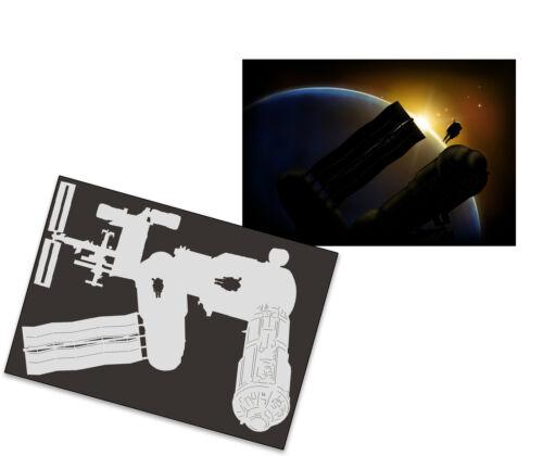 Single Step Airbrush Schablone AS-248 ISS ~ Tattoo Stencil ~ UMR-Design
