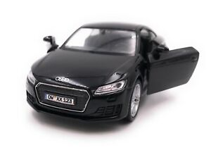 Audi-Tt-Compact-Athlete-Model-Car-With-Desired-License-Plate-Black-Scale-1-3-4