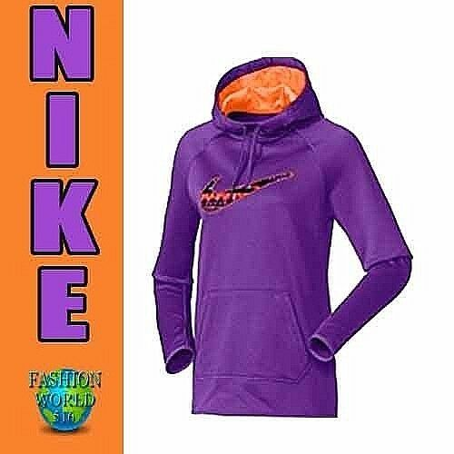 aba3eda08479 Nike Women s Size Small All Time 8 Bit Pullover Training Hoodie Purple  839346 for sale online