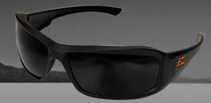 Edge XB136-E2 Brazeau Torque Safety Glasses Non Polarized Smoke Lens Orange Logo