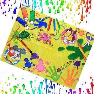 Waterproof Kids Messy Mat Splash Play Art Floor Children Painting Easy To Wipe