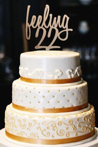 22nd Birthday Cake Topper Milestone... Feeling 22 cake topper Feeling 22