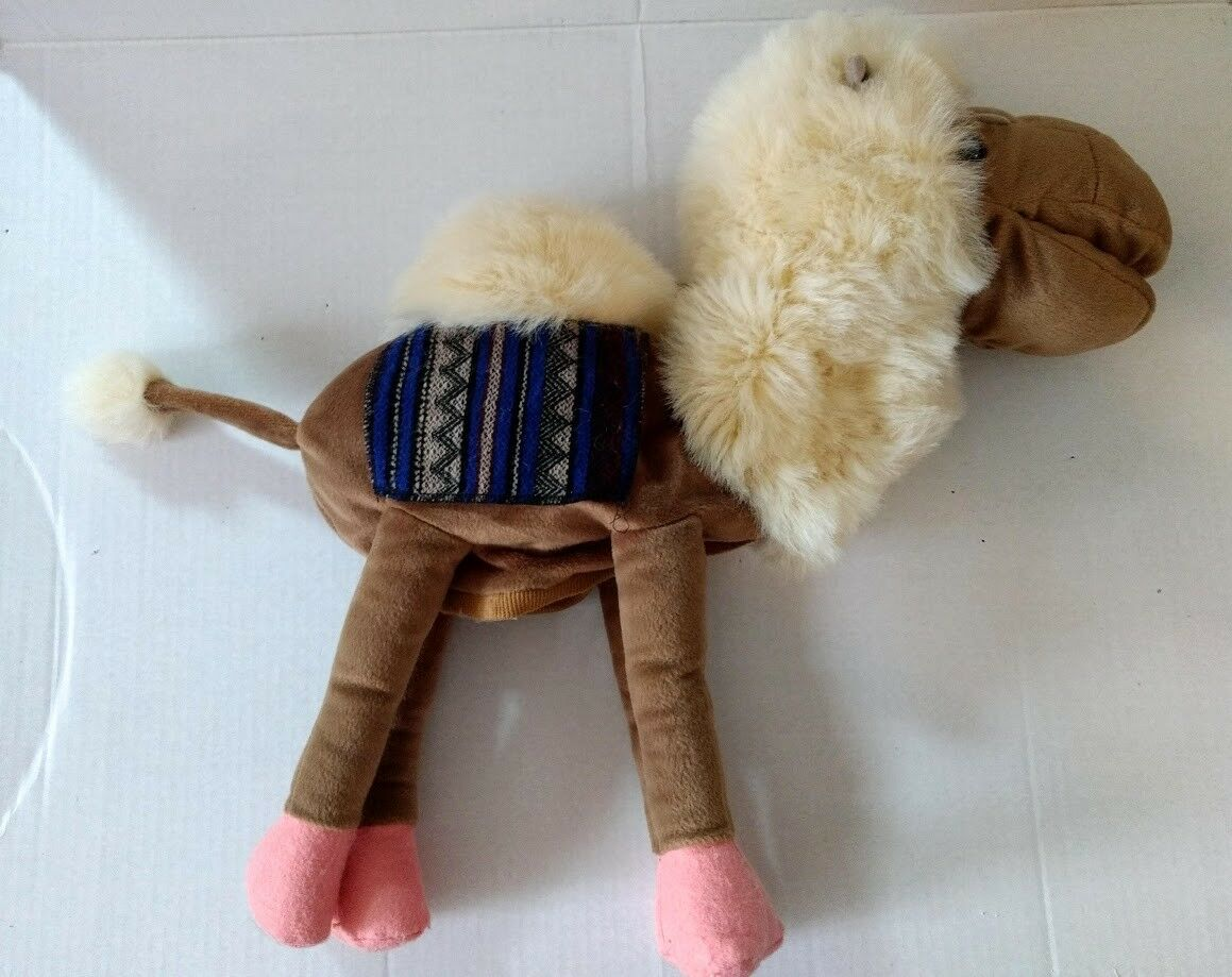 Full Body Camel Puppet Plush Soft Toy Toy Toy Fleece Mane Movable Mouth Saddle Blanket d0c2d5
